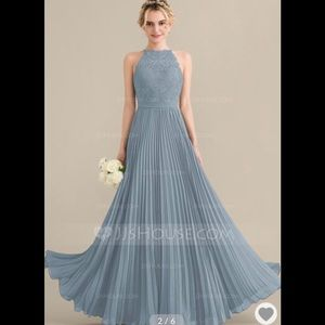 Bridesmaid gown in dusty blue color only worn once